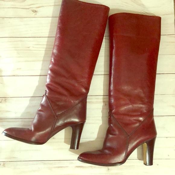 Vintage Shoes - Etienne Aigner red boots
